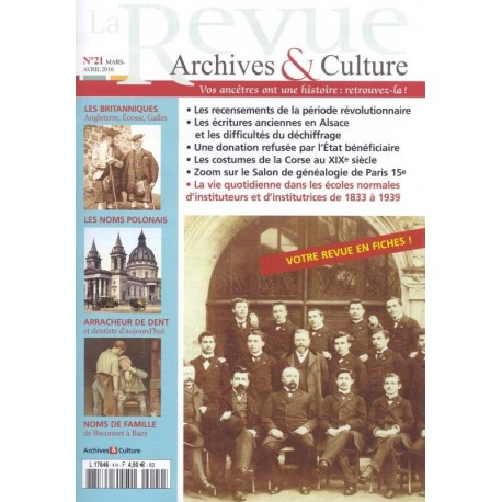 La revue d'Archives & Culture n°21