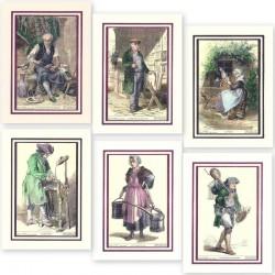 cartes d'anciens métiers (les 2 lots)