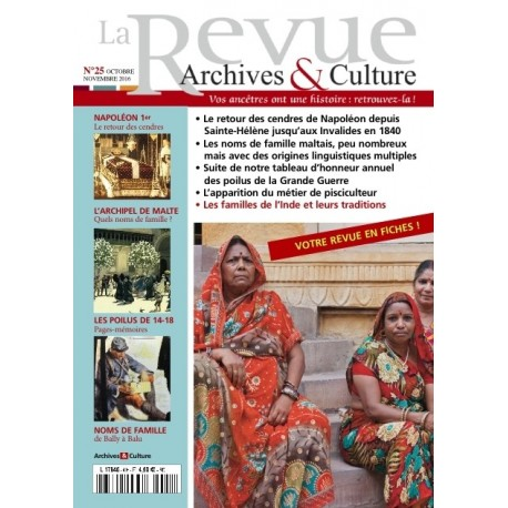 La revue d'Archives & Culture n°25