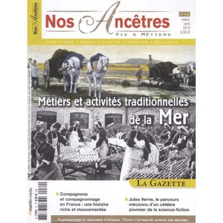 Métiers et activités traditionnelles de la mer.