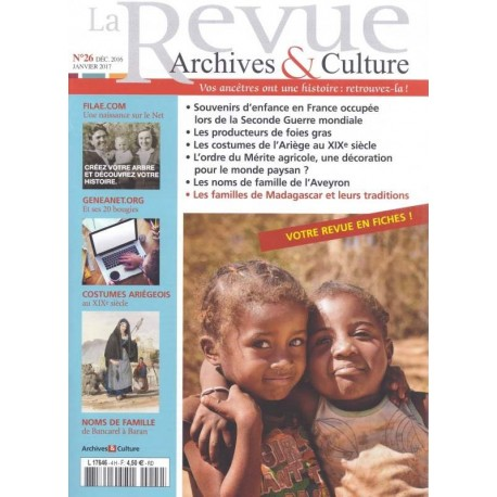 La revue d'Archives & Culture n°26