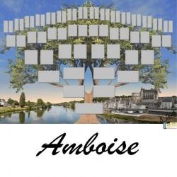 Amboise - Arbre ascendant vierge 6 générations