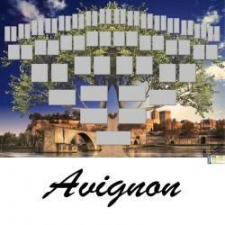 Avignon - Arbre ascendant vierge 6 générations