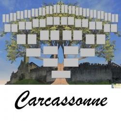 Carcassonne - Arbre ascendant vierge 6 générations