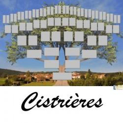 Cistrières - Arbre ascendant vierge 6 générations