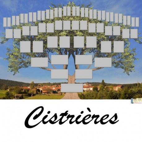 Présentation Cistrières - Arbre ascendant vierge 6 générations