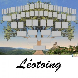 Léotoing - Arbre ascendant vierge 6 générations