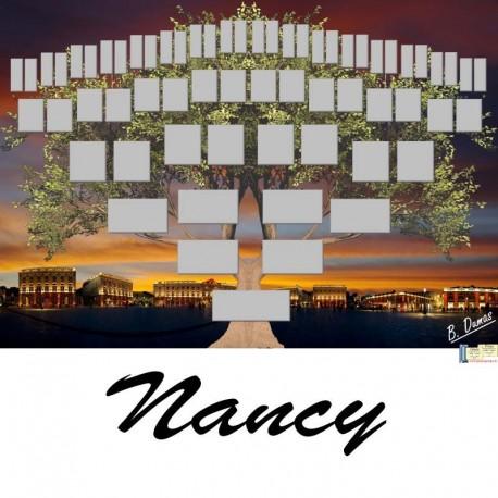 Présentation Nancy - Arbre ascendant vierge 6 générations
