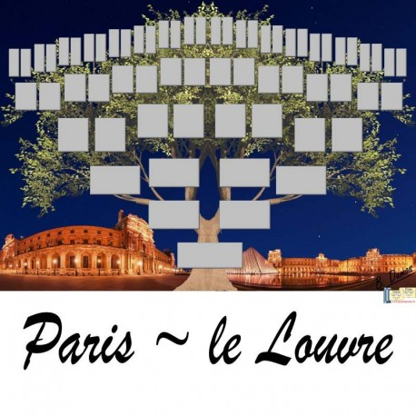 Présentation Paris Le Louvre - Arbre ascendant vierge 6 générations