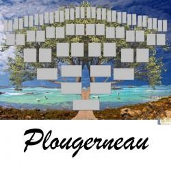 Plougerneau - Arbre ascendant vierge 6 générations