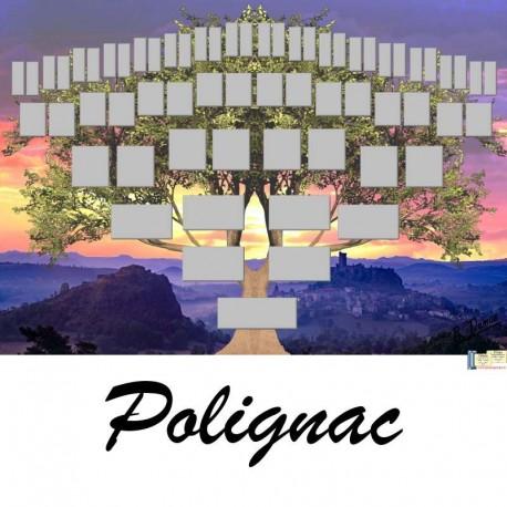 Présentation Polignac - Arbre ascendant vierge 6 générations