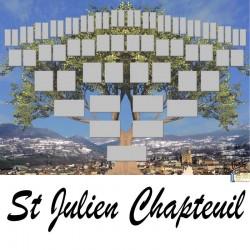 St Julien Chapteuil - Arbre ascendant vierge 6 générations