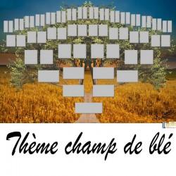 Champ de blé - Arbre ascendant vierge 6 générations