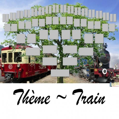 Présentation Train - Arbre ascendant vierge 6 générations