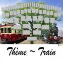 Train - Arbre ascendant vierge 6 générations
