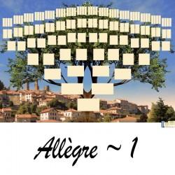 Allègre 1 - Arbre ascendant vierge 7 générations