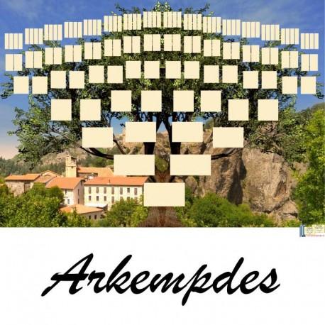 Présentation Arkempdes - Arbres ascendants vierges 7 générations