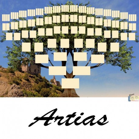 Présentation Artias - Arbres ascendants vierges 7 générations