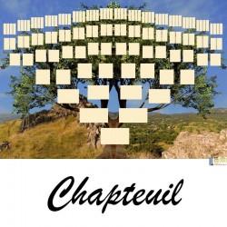 Chapteuil - Arbre ascendant vierge 7 générations