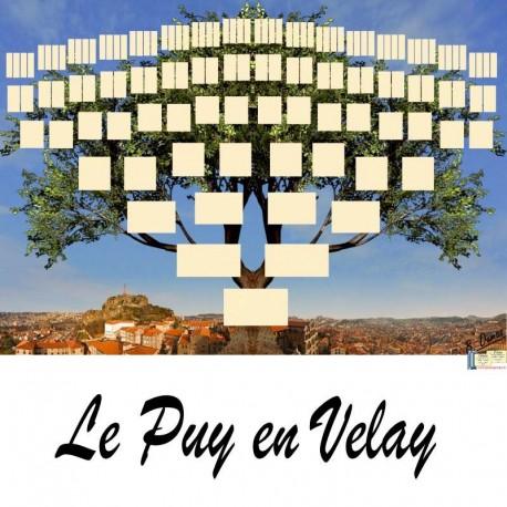 Présentation Le Puy en Velay - Arbre ascendant vierge 7 générations