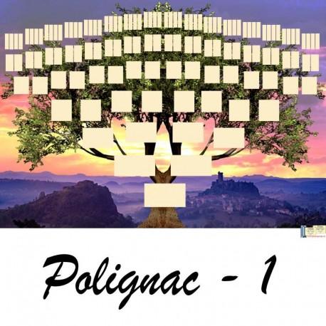 Présentation Polignac 1 - Arbre ascendant vierge 7 générations