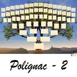 Polignac 2 - Arbre ascendant vierge 7 générations