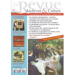 La revue d'Archives & Culture n°28