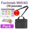 Pack Facilotab wifi/4G + Support + Sacoche + Stylets