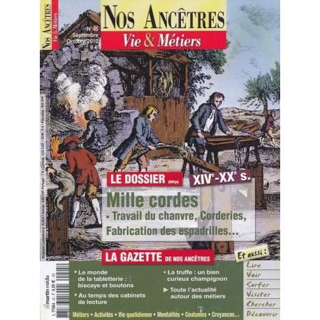 Mille cordes, Travail du chanvre , Corderie , XIVe - XXe siècle
