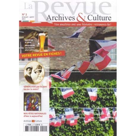 Sommaire de la revue d'Archives & Culture n°02