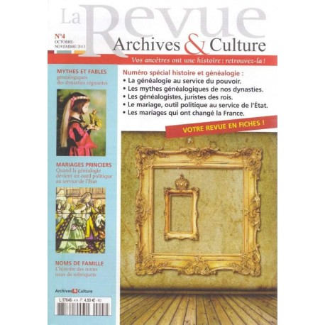 La revue d'Archives & Culture n°04