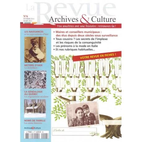 La revue d'Archives & Culture n°06