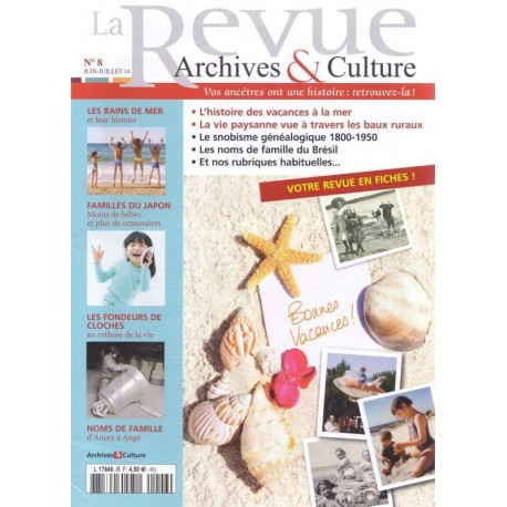La revue d'Archives & Culture n°08