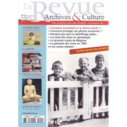 La revue d'Archives & Culture n°13