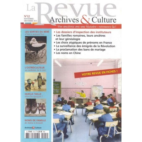 La revue d'Archives & Culture n°12