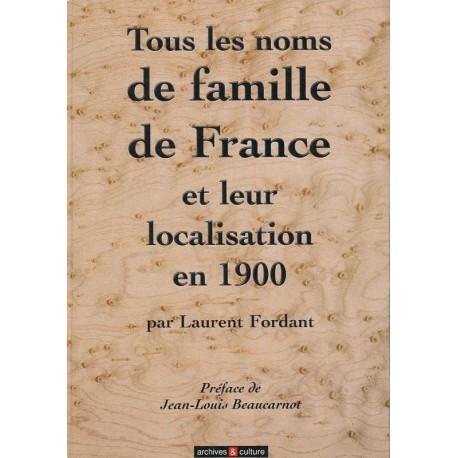Tous les noms de famille de France