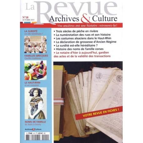 La revue d'Archives & Culture n°18