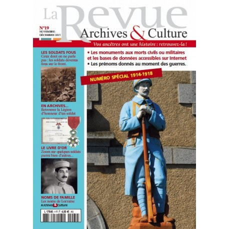 La revue d'Archives & Culture n°19
