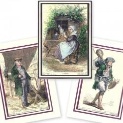 Lot 1 des cartes d'anciens métiers
