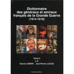Dictionnaire des généraux et amiraux de la Grande Guerre, tome 2 (dos)