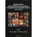 Dictionnaire des généraux et amiraux de la Grande Guerre Tome 2
