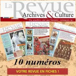 Abonnement 1 an la revue d'Archives & Culture