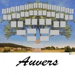 Auvers - Arbre ascendant vierge 6 générations