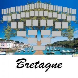 Bretagne - Arbre ascendant vierge 6 générations