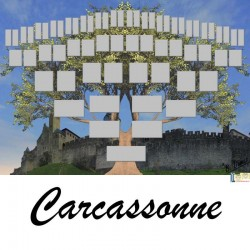 Présentation Carcassonne - Arbre ascendant vierge 6 générations