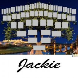 Jackie - Arbre ascendant vierge 6 générations