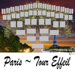 Paris Tour Eiffel - Arbre ascendant vierge 6 générations