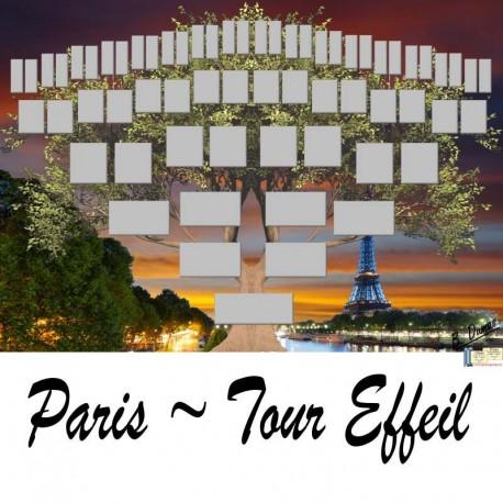 Présentation Paris Tour Effeil - Arbre ascendant vierge 6 générations