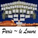Paris Le Louvre - Arbre ascendant vierge 6 générations
