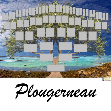 Présentation Plougerneau - Arbre ascendant vierge 6 générations